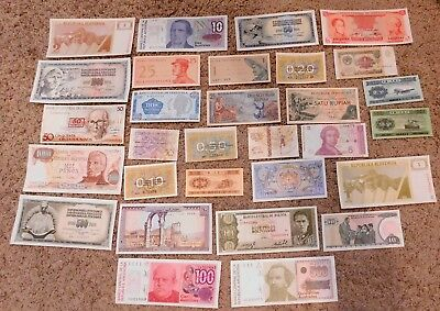 Lot 30 PCS From 14 Countries Different Banknotes World Paper Money Currency UNC