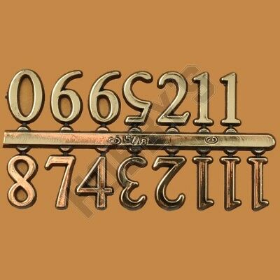 Arabic Numbers Gold Colour Black Edging 17Mm Self Adhesive Suitable For Clock