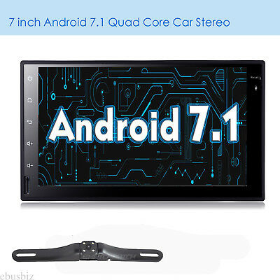 Quad Core Android7.1 4G WIFI Double 2DIN Car NO DVD Player Radio Stereo GPS Navi