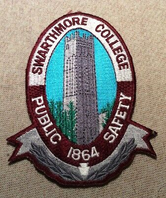 PA Swarthmore College Pennsylvania Public Safety Patch