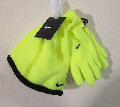 NWT Nike Youth Boys Swoosh Logo Beanie & Gloves 2-Piece Set 8/20 Volt MSRP$20