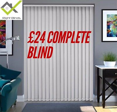 VERTICAL BLIND Window Blinds ANY COLOUR £24 Made To Measure Vertical £24