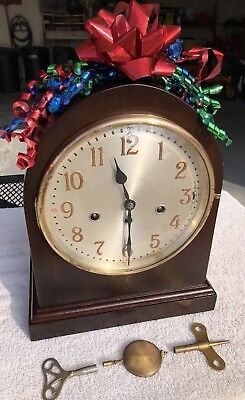 1932 Antique German Junghans Mantel Clock Working Correctly Westminster Chimes