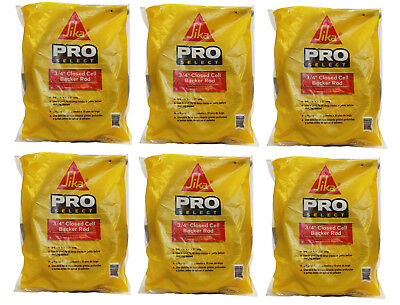 """6 (120') Sika Pro 3/4"""" Closed Cell Backer Rod 20' Bags Construction Foam"""