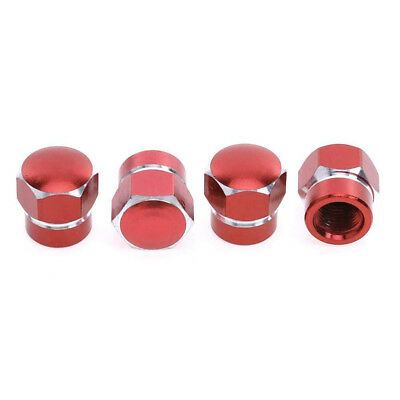 4pcs Universal Red Alloy Aluminum Tire Rim Valve Wheel Air Dust Cover Stem Caps