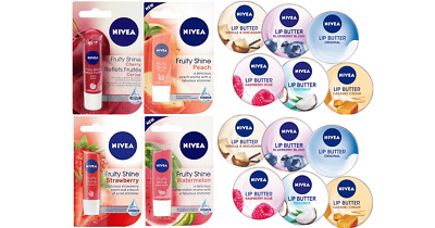 Nivea Lip Care Balm 4.8g, Lip Butter 16.7g & Lip Balm Crayon 3g  Pearly Shine