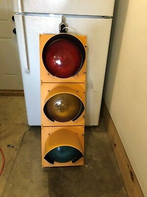 Real Traffic Signal Light Retired Red Yellow and Green Great Shape w/Hanger
