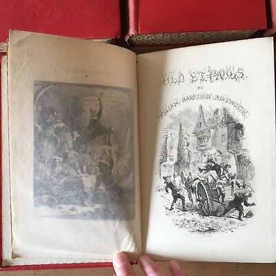Antique Set 5x Ainsworth's Novels Original Illustrated Edition Routledge 1870's