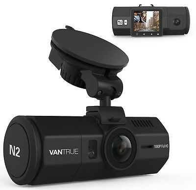 Vantrue N2 Dual Dash Cam-1080P FHD +HDR Front and Back Wide Angle Dual Lens Uber