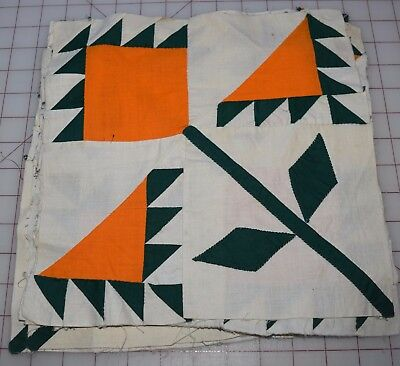 8 1860-70 pieced Lily quilt blocks, beautiful and crisp piecing