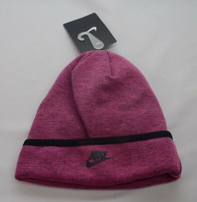 267a952ed47 Nike Tech Fleece Beanie Vivid Pink Youth Size 4 6X New with Tags 3A2654 A3D
