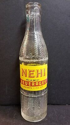 Vintage Rare Nehi Beverages Soda ACL Pop Bottle Lansing, Mich 7oz March 3, 1925