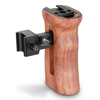 SmallRig 2187 Wooden NATO Side Handle Quick-Release cold shoe for side Nato cage