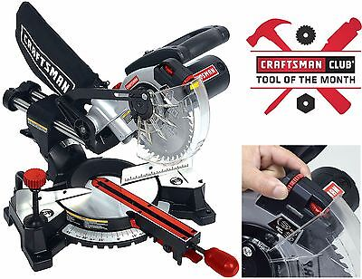 New Craftsman 7 1 4 7 25 Inch Sliding Compound Miter Saw W Laser