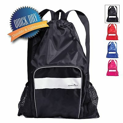 Athletico Mesh Swim Bag - Mesh Pool Bag with Wet & Dry Compartments for Swimm...