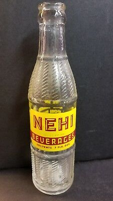 Vintage Rare Nehi Beverages Soda - Pop Bottle Grand Rapids, MI Michigan 7oz
