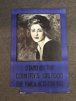 Original WWI YWCA Stand By The Countrys Girlhood Poster