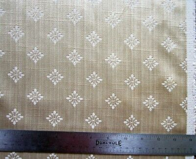 """Shiny Quality Vintage Gold Silk Brocade Salvage 24 by 37"""""""