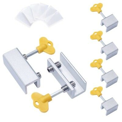 6 Pieces Adjustable Sliding Window Locks Stops Aluminum Alloy Door Frame Se G2G7