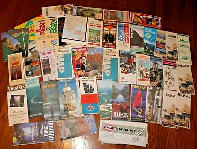 VTG USA United States Highway Road Maps **LOT OF 45+** 1970's 1980's 1990's
