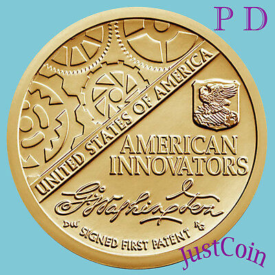 2018 P&d Set American Innovation Introductory Uncirculated Two Golden Dollars