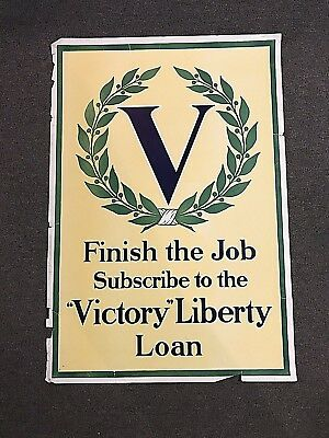 Original WWI Victory Liberty Loan Poster*Finish The Job*