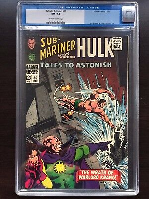 TALES TO ASTONISH #86 CGC NM: 9.4 OW-W; Sub-Mariner cover!