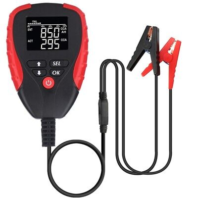 Digital 12V Car Battery Tester Pro With Ah Mode Automotive Battery Load Tes S6F4