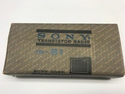 Sony 1R-81. 8 Transistor AM Radio in original boxes and paperwork  MINT!