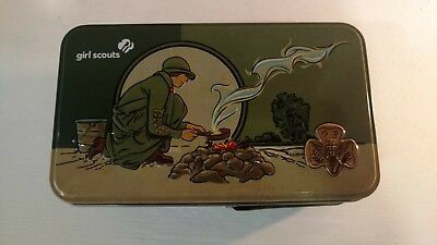 GIRL SCOUTS Collectible TIN, Inspired by 1920's Tin, Excellent Condition