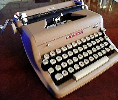 Vintage Royal Quiet Deluxe Portable Typewriter Circa 1958 Fully Functional-NICE