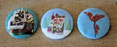 Hallmark 2018 Keepsake Ornament Premier Button Pin Complete Set of 3 Pins