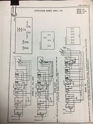 Atwater Kent Service Schematics From Riders