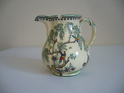 Mason's Ironstone Jug - KORO Pattern - Fluted Top with Spout