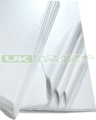 "50 LARGE SHEETS OF 500 x 750mm 20x30"" WHITE ACID FREE TISSUE WRAPPING PAPER"