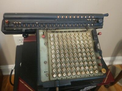 Vintage Monroe High Speed Adding Machine / Calculator for Repair or Parts