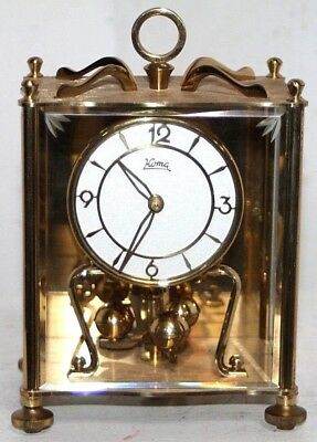 Antique German 400 Day Mauch Torsion Anniversary Carriage Clock W/ Beveled Glass