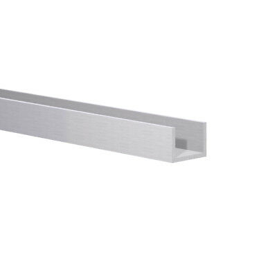 """Aluminum Channel: (11/16"""" W x 1/2"""" H x 1/16"""") Fits 9/16"""" Clear Anodized 3 Foot"""
