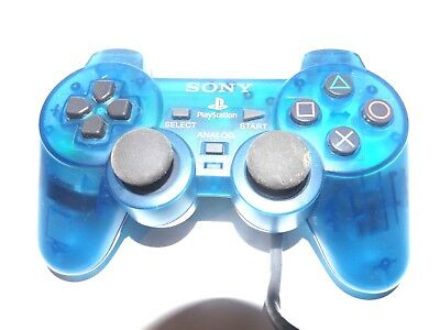 Sony PlayStation 1 PS1 SCPH-1200 Clear Blue Analog Stick Controller Gamepad