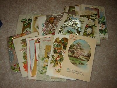 LOT D VINTAGE CHRISTMAS POSTCARDS large lot of 40 general themed beautiful cards
