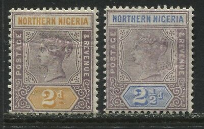 Northern Nigeria QV 1900 2d and 2 1/2d mint o.g.