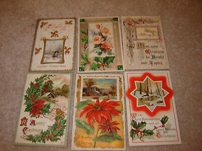 LOT F VINTAGE CHRISTMAS POSTCARDS large lot of 38 beautiful schmucker ?