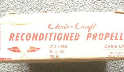 Chris Craft Reconditioned Brass Propeller # 656 And Shipping Box