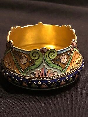 Antique Imperial Russian 84 Silver Enamel 11th Artel Moscow *Extremely Rare*