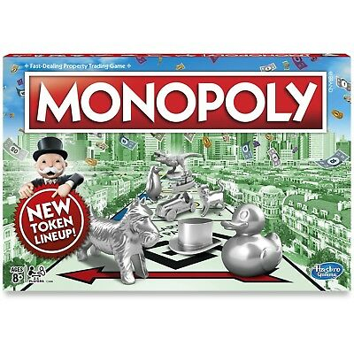 Monopoly The Classic Edition Traditional Family Fun Board Game NEW IN BOX!!