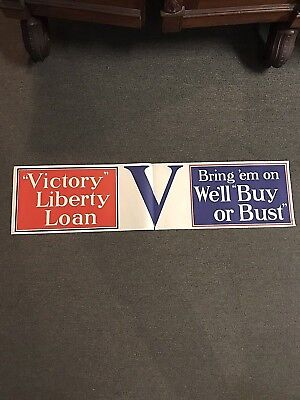 Original WWI Victory Liberty Loan Poster