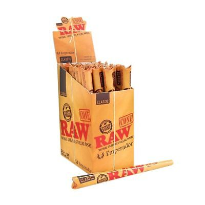 RAW Classic Emperador - 6 PACKS - Pre Rolled 1 Cone Per Pack Natural Unrefined