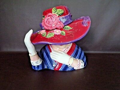 Red Hat Society Ceramic Cookie Jar By Susan Winget (Cat.#15T005)