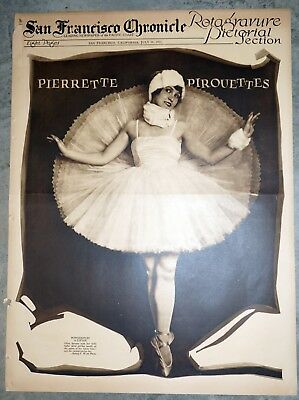 1922 Rotogravure Section - Ballet Cover with Movie and Sports Stars Inside