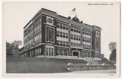 Helena Arkansas High School Building c1930 vintage postcard